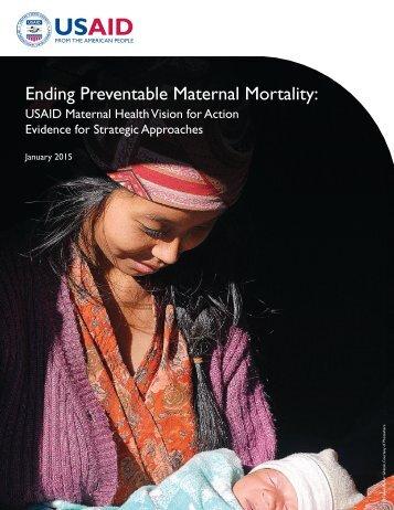 Ending Preventable Maternal Mortality