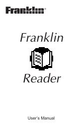 Reader for Palm OS - Franklin Electronic Publishers