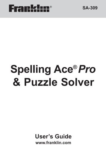 Spelling Ace®Pro & Puzzle Solver - Franklin Electronic Publishers