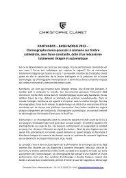 Français - Christophe Claret