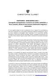 KANTHAROS – BASELWORLD 2013 ... - Christophe Claret