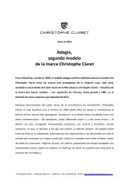 Adagio, segundo modelo de la marca Christophe Claret