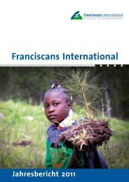 Bilanz 2011 - Franciscans International