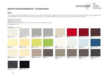 Stöcklin Küchenmöbelfabrik - Farbsortiment
