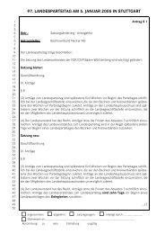Anträge zum 97. Landesparteitag, 5. Januar 2005 - FDP Baden ...