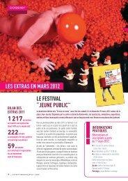 """LES EXTRAS EN MARS 2012 LE FESTIVAL """"JEUNE PUBLIC"""""""