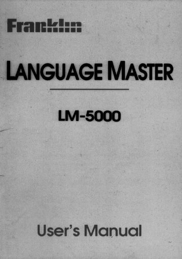 ~LANGUAGE MAsTER -  Franklin Electronic Publishers