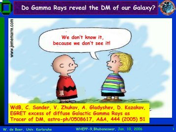 Do Gamma Rays reveal the DM of our Galaxy?