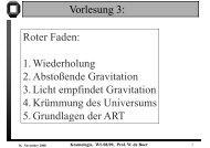 Kosmologie, WS 08/09, Prof. W. de Boer