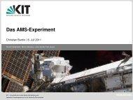 Das AMS-Experiment