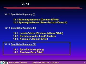 Spin-Bahn Kopplung