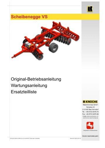 Scheibenegge VS - Knoche Maschinenbau GmbH