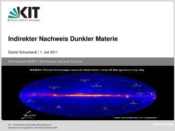 Indirekter Nachweis Dunkler Materie