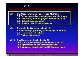 Frank-Hertz Versuch beweist Energie- Quantelung der Energieniveaus