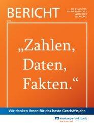 Wir danken Ihnen für das beste Geschäftsjahr. - Hamburger Volksbank