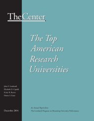 TheCenter The Top American Research Universities