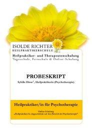 PROBESKRIPT Sybille Disse©, Heilpraktikerin ... - Isolde Richter