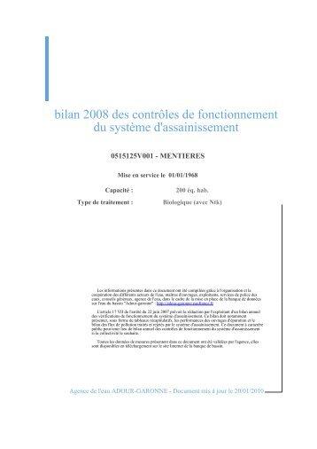 bilan 2008 des contrôles de fonctionnement du système d ...