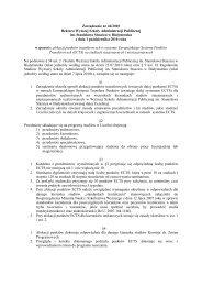 Zarządzenie nr 46 - Wyższa Szkoła Administracji Publicznej w ...