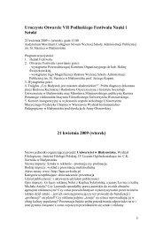 Festiwal VII.pdf - VII Podlaski Festiwal Nauki i Sztuki