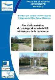 Prise d'eau de Nazareth 09018X0023/PR Nérac (47) - SIE du bassin ...