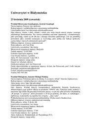 Uniwersytet w Białymstoku - VII Podlaski Festiwal Nauki i Sztuki