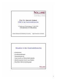 Customer Relationship Management in der Automobilbranche
