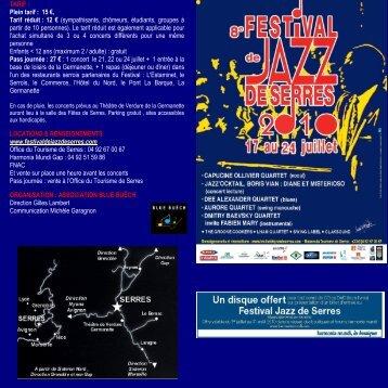 flyer en pdf - Festival de jazz de Serres