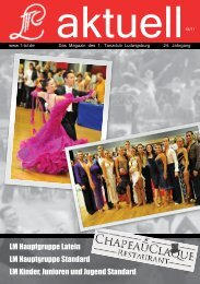 Neuer Termin: Dienstag 28. Juni 2011, 18.00 Uhr - 1. Tanzclub ...