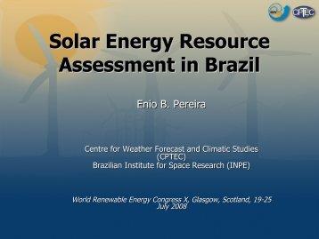 Solar Energy Resource Assessment in Brazil