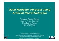 Solar Radiation Forecast using Artificial Neural Networks