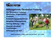 Stiftungen und Stiftungsfonds. - ANU Hamburg