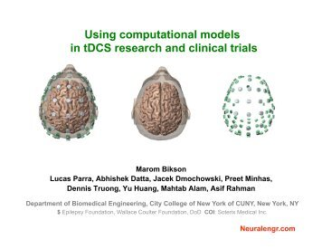 Using computational models in tDCS research and clinical trials