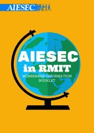 Welcome to AIESEC in RMIT