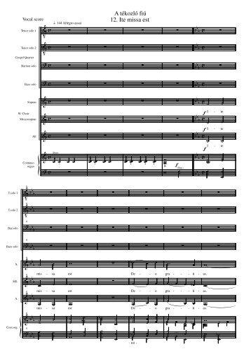 Vocal score