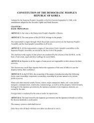 CONSTITUTION OF THE DEMOCRATIC PEOPLE'S REPUBLIC OF KOREA