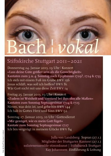 Bach ¦ vokal