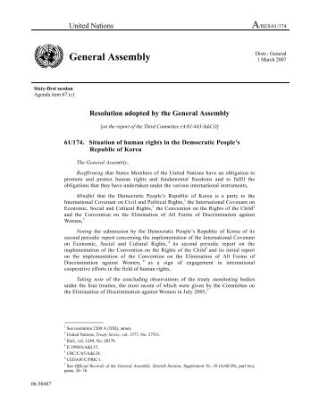 A/RES/61/174 General Assembly