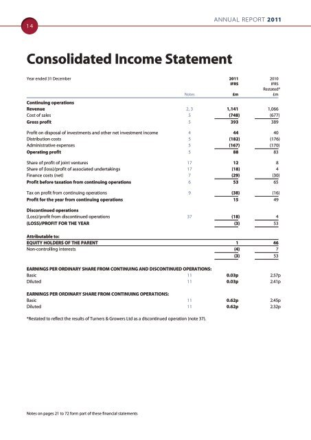 Guinness Peat Group plc Annual Report 2011 (pdf version)