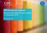 GPG Group and Coats plc