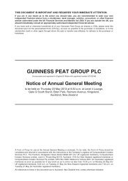 GUINNESS PEAT GROUP PLC