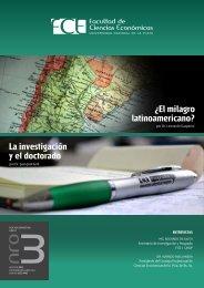 Revista Institucional FCE nro 3 - Facultad de Ciencias Económicas