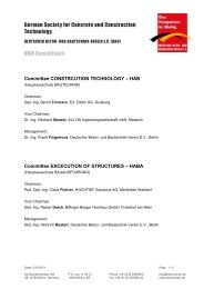 German Society for Concrete and Construction Technology DBV ...