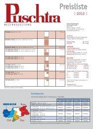 Preisliste 2012 herunterladen - Zu den Bezirkszeitungen