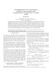 Desingularization of non local dynamic models by means of ...
