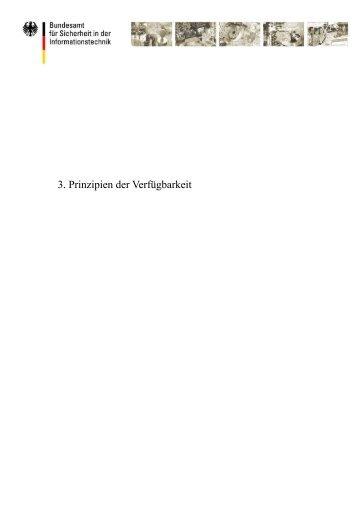1 Prinzipien der Verfügbarkeit - Bundesamt für Sicherheit in der ...