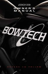 2013 Owner's Manual - Bowtech Archery