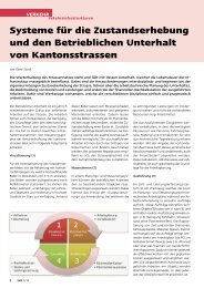 Systeme für die Zustandserhebung und den Betrieblichen Unterhalt ...
