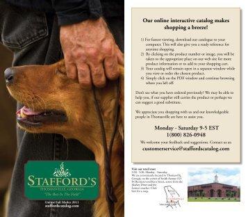 Stafford's Stafford's Stafford's