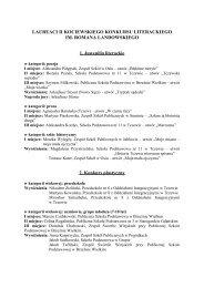 Lista osób nagrodzonych i wyróżnionych w Konkursie - Miejska ...